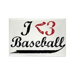 Geeky Baseball Fan Rectangle Magnet