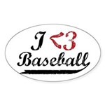 Geeky Baseball Fan Oval Sticker