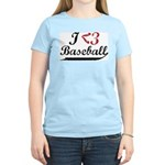 Geeky Baseball Fan Women's Pink T-Shirt