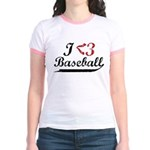 Geeky Baseball Fan Jr. Ringer T-Shirt
