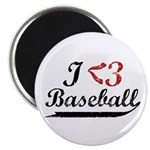 Geeky Baseball Fan Magnet