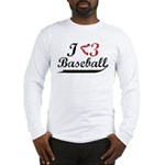 Geeky Baseball Fan Long Sleeve T-Shirt