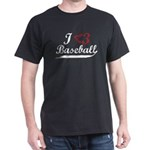 Geeky Baseball Fan Dark T-Shirt