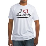 Geeky Baseball Fan Fitted T-Shirt