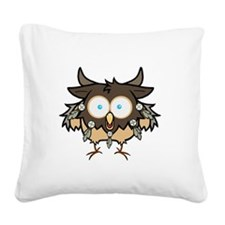 Bird is for BOOM Square Canvas Pillow