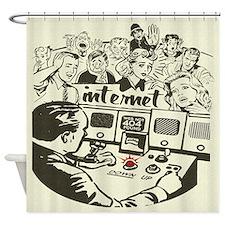internet-down-light.png Shower Curtain