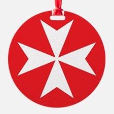 White Maltese Cross Ornament