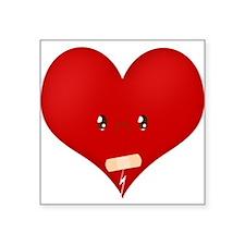 """Heartbroke Square Sticker 3"""" x 3"""""""