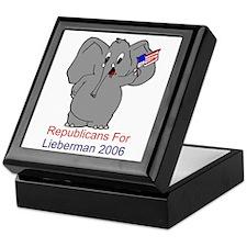 Republicans 4 Lieberman Keepsake Box