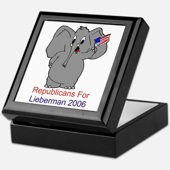 Republicans 4 Lieberman Keepsake Box