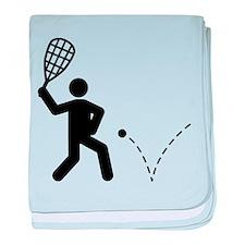 Racquetball baby blanket