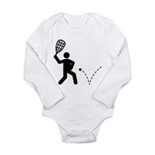 Racquetball Long Sleeve Infant Bodysuit