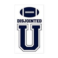 Disjointed U - Rectangle Decal