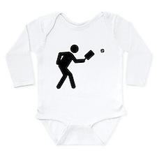 Pickleball Long Sleeve Infant Bodysuit