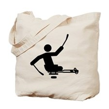 Physically Challenged Sled Hockey Tote Bag