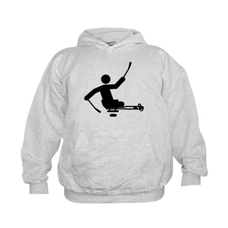 Physically Challenged Sled Hockey Kids Hoodie