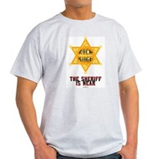 The Sheriff is Near Ash Grey T-Shirt