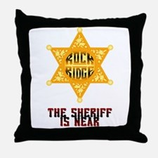 The Sheriff is Near Throw Pillow