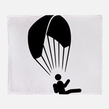 Paragliding Throw Blanket