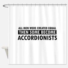Accordionists Designs Shower Curtain