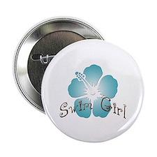 "Swim Girl - Blue 2.25"" Button (10 pack)"