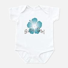 Swim Girl - Blue Infant Creeper