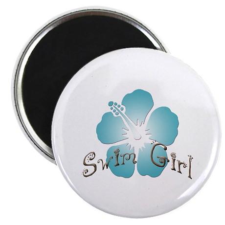 Swim Girl - Blue Magnet