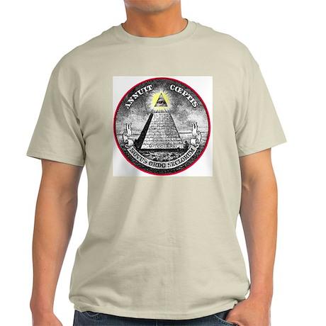"Weird Dollar ""Illuminati"" Ash Grey T-Shirt"