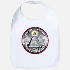 """Weird Dollar """"Illuminati"""" Bib"""