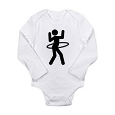 Hula Hoop Long Sleeve Infant Bodysuit
