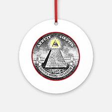 """Weird Dollar """"Illuminati"""" Ornament (Round)"""