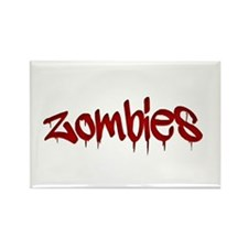 White Zombies Rectangle Magnet