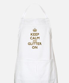 Keep Calm And Glitter On Apron