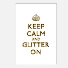 Keep Calm And Glitter On Postcards (Package of 8)