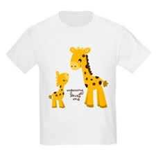 Mother and child Giraffe T-Shirt