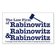 Rabinowitz Law Firm - Rectangle Decal