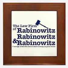 Rabinowitz Law Firm - Framed Tile