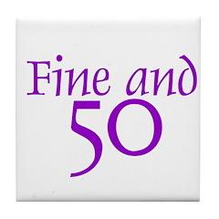 50 50th Birthday Men Women Tile Coaster