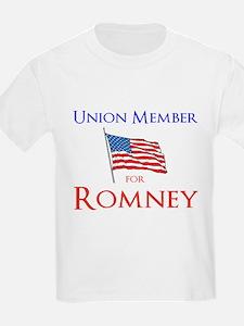 Union Member for Romney T-Shirt