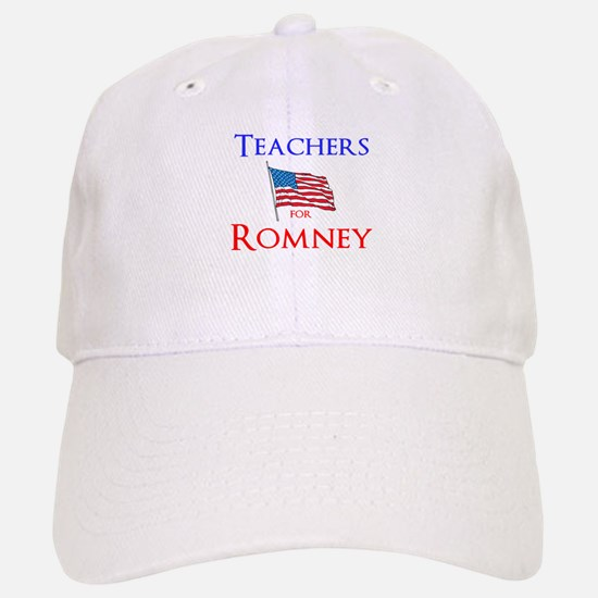 Teachers for Romney Baseball Baseball Cap