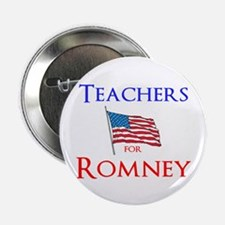 "Teachers for Romney 2.25"" Button"