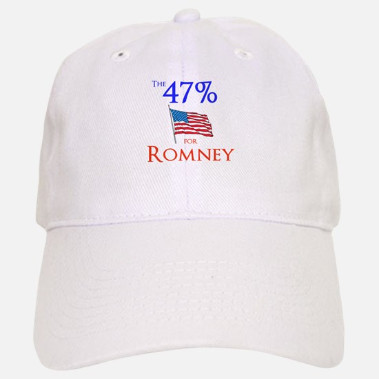The 47% for Romney Baseball Baseball Cap