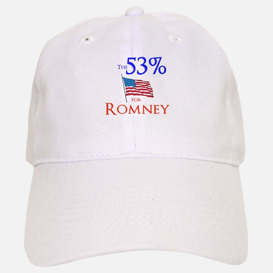 The 53% for Romney Baseball Baseball Cap