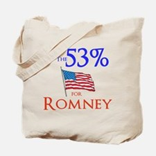 The 53% for Romney Tote Bag