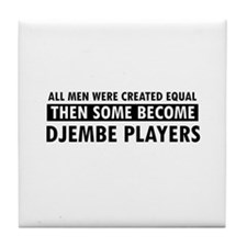 Djembe players Designs Tile Coaster