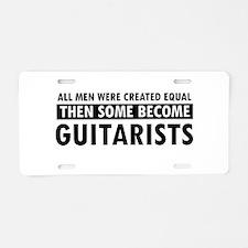 Guitarists Designs Aluminum License Plate