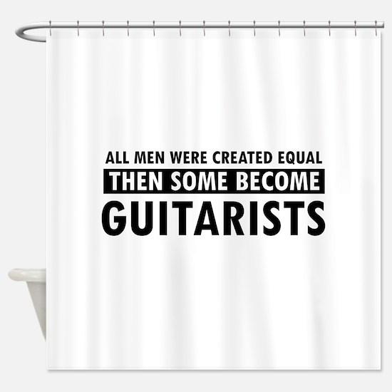 Guitarists Designs Shower Curtain