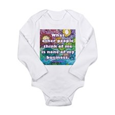 None of my business Long Sleeve Infant Bodysuit