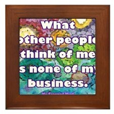 None of my business Framed Tile