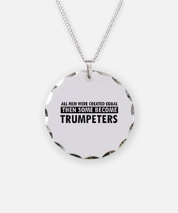 Trumpeters Designs Necklace Circle Charm